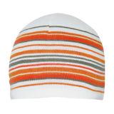 Chapéu feito malha forma com listra alaranjada (JRK158)