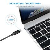 USB 케이블 접합기 데이터 USB 케이블 Samsung iPhone에 백색 색깔 번개