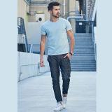 Les plus défuntes chemises 100% d'été de coton d'OEM de modèle de vente en gros pour le T-shirt rond de chemise de circuit de collet d'illustrations des hommes