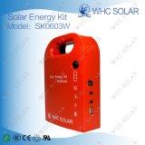 3 Вт портативный мини-солнечные фотоэлектрические системы с 2 светодиодных ламп