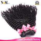 ねじれた巻き毛のバージンの毛100%のブラジル人の毛