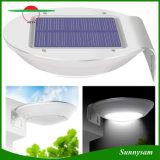 Lampada da parete impermeabile solare esterna economizzatrice d'energia del giardino del radar dei 16 LED di movimento dell'indicatore luminoso solare del sensore