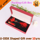 USB deslizante vermelho plástico Pendrive dos presentes do festival mini (YT-3218-01)
