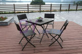Напольный складывая комбинированный угломер журнальных столов и стулов отдыха ротанга PE