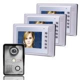 Sonnette intelligente de Bell de porte de caméra vidéo de trois ménages avec l'entretien mains libres