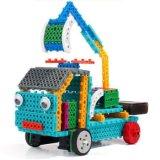 1488723-4 en 1 Kit de Bloque de los vehículos de Ingeniería de Control remoto RC de la educación Conjunto de bloques de juguete creativo 127PCS - Color al azar