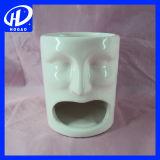 Чашка творческого милого шаржа выражения керамическая кружки кофейной чашки молока с крышкой