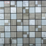 台所および浴室の壁のための建築材料の大理石の石そしてガラスのモザイク