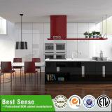 赤いラッカー現代食器棚