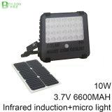 10W 고성능 적외선 센서 투광램프 태양 LED 플러드 빛