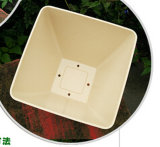 Eco-Friendly 대나무 섬유 정원, 생물 분해성 Compostable 가정 훈장 화분 (BC-FP1012)