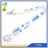 Acollador barato del diseño especial azul con insignia de la compañía