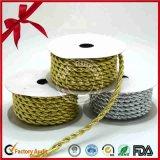 Del color del brillo del oro cadena cinta rizada de las frutas Cesta de embalaje