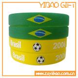 Браслета силикона подарка промотирования Wristband силикона Wristband изготовленный на заказ резиновый (YB-HR-379)