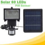 Indicatore luminoso di inondazione solare dei 60 LED LED con il sensore SL1-17 di PIR-Movimento