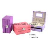 Caja Caliente de la Joyería de la Caja de la Joyería del Rectángulo de Madera de la Caja de Embalaje del Arte de la Manera de la Venta