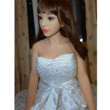 135cmの白い皮膚色の実質のシリコーンの性の人形