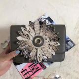 Neue Ankunft 2017 kleine PU-Schulter-Beutel-Schlange-Blumen-Handtasche für Damen Sh139