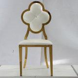 Cadeira brandamente inoxidável elevada luxuosa do frame de aço do couro da classe de Modren para o banquete de casamento/banquete/restaurante
