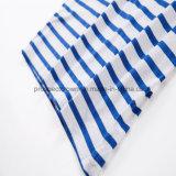 Тенниска плоской тенниски нашивки Knit голубая и белая нашивки