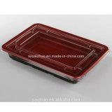 500ml 장방형 빨간 까만 처분할 수 있는 초밥 콘테이너 (SZ-L-27)