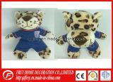 Brinquedo bonito do leopardo do luxuoso da mascote do clube do futebol