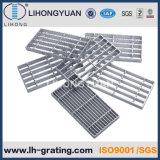 Escaleras Grating de acero galvanizadas, escaleras de acero galvanizadas de la rejilla