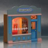 China pequeños precioso juguete de madera DIY Casa de muñecas con muebles