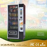 6 Columnas Compact aperitivos y bebidas dispensador de máquina expendedora de Combo