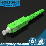 Vert du SM 2.0mm de Sca de connecteur de fibre optique
