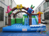 Dibujos animados inflables Bouncy Castle / diapositivas inflables Combo