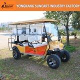 卸売4+2のSeatersの電気ゴルフカート、金カートボディ、農場で使用される後部Seaterの強い6人の乗客の電気自動車