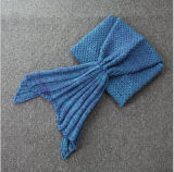 Manta de algodão de sereia sólida e confortável e confortável