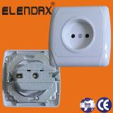 Afzet van de Contactdoos van de Muur van de EU van Electrica van de Fabriek van Wenzhou de gelijk Opgezette (F3009)