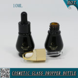 бутылка эфирного масла Gourd 10ml форменный черная стеклянная с пипеткой капельницы