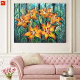 Peinture à l'huile de fleurs réalistes sur toile en coton