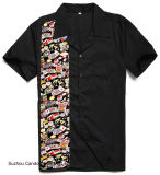 Neuer Entwurfs-Neuheit-Tätowierung-Druck-männliche amerikanische Verein plus Größen-Hemden