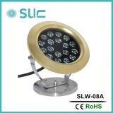 Lumière sous-marine LED en laiton en RGB (fontaine / piscine)