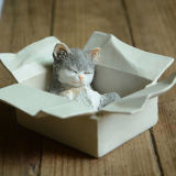 수지 정원 장식 선물 새끼 고양이가 소형 사랑스러운 고양이 작은 조상 예술품에 의하여 집으로 돌아온다