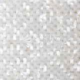Azulejo de mosaico blanco puro del rectángulo de la cara del arco del shell de agua dulce (10*20m m)