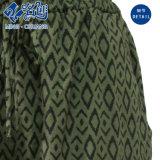 Grüne lose Gummi-Hose-Riemen Muster-Form-Dame-Hose