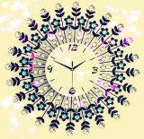Часы стены украшения домашних изделий фантазии кристаллический