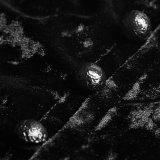[ي-793] [بونك] إفتتان سيّدة زيّ قوّيّة مقبرة أسود مخمل رأس