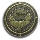 Medalla de encargo redonda del metal con insignia
