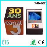 Карточки брошюра цифров экрана 7 дюймов TFT LCD роскошные видео- и коробка подарка