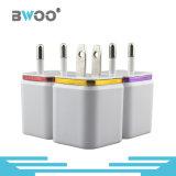 Chargeur duel de vente chaud de mur d'USB pour l'adaptateur UE/USA