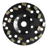 점을 찍은 별 세그먼트 다이아몬드 회전 숫돌