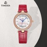백색 색깔 결박 여자 손 시계, 유행 다이아몬드 석영 손목 시계 71289