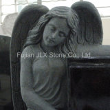 Angel de granito preto de Shanxi com lápis de livros