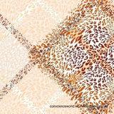 geometrische Abbildung Pigment&Disperse des Leopard-100%Polyester druckte Gewebe für Bettwäsche-Set